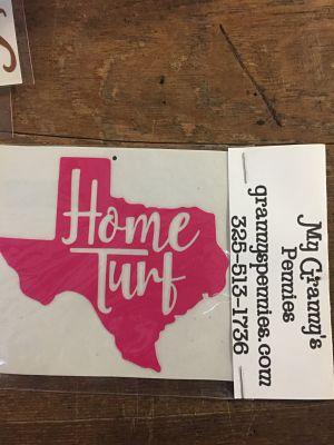 Texas Home Turf Decal