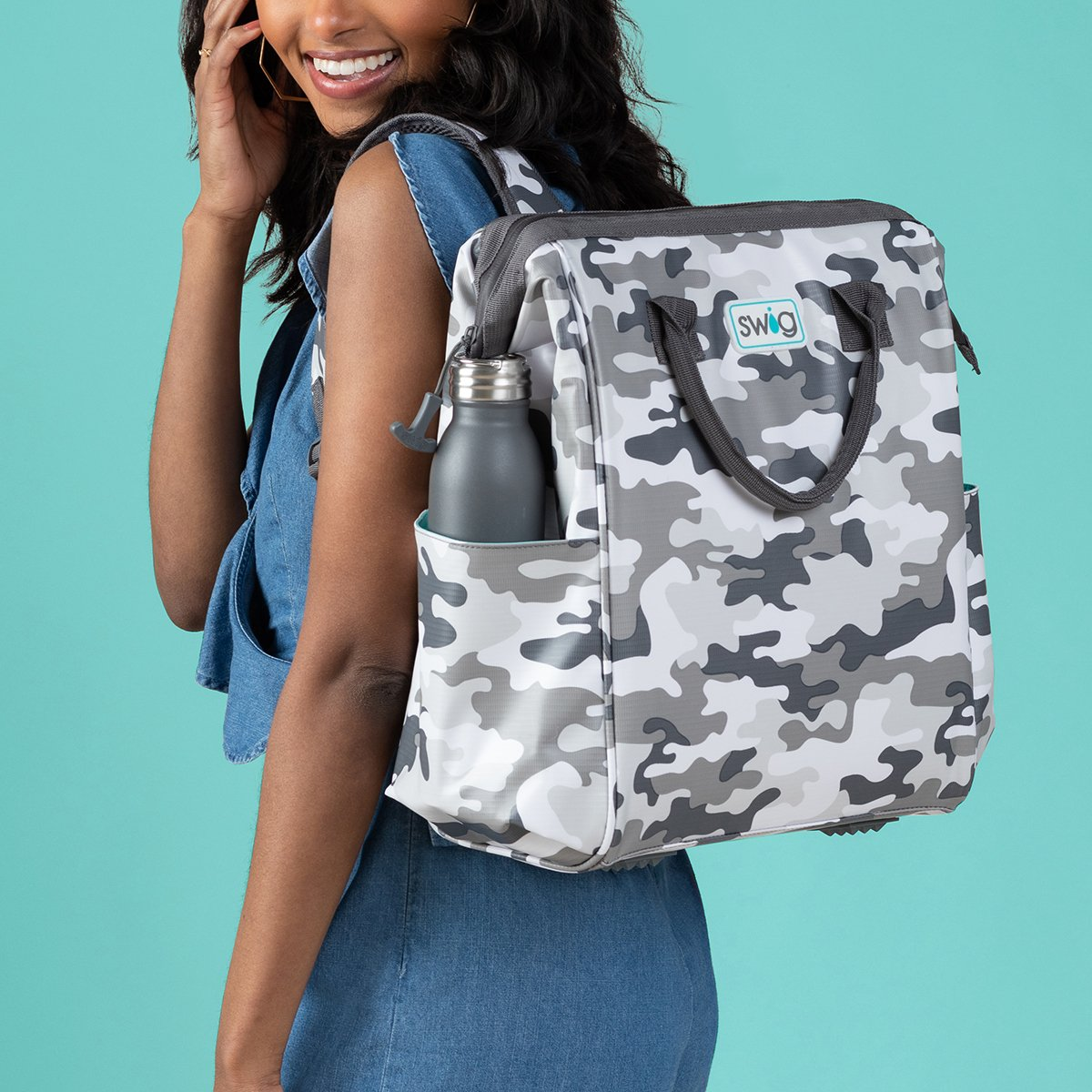 Camo Swig Backpack Cooler