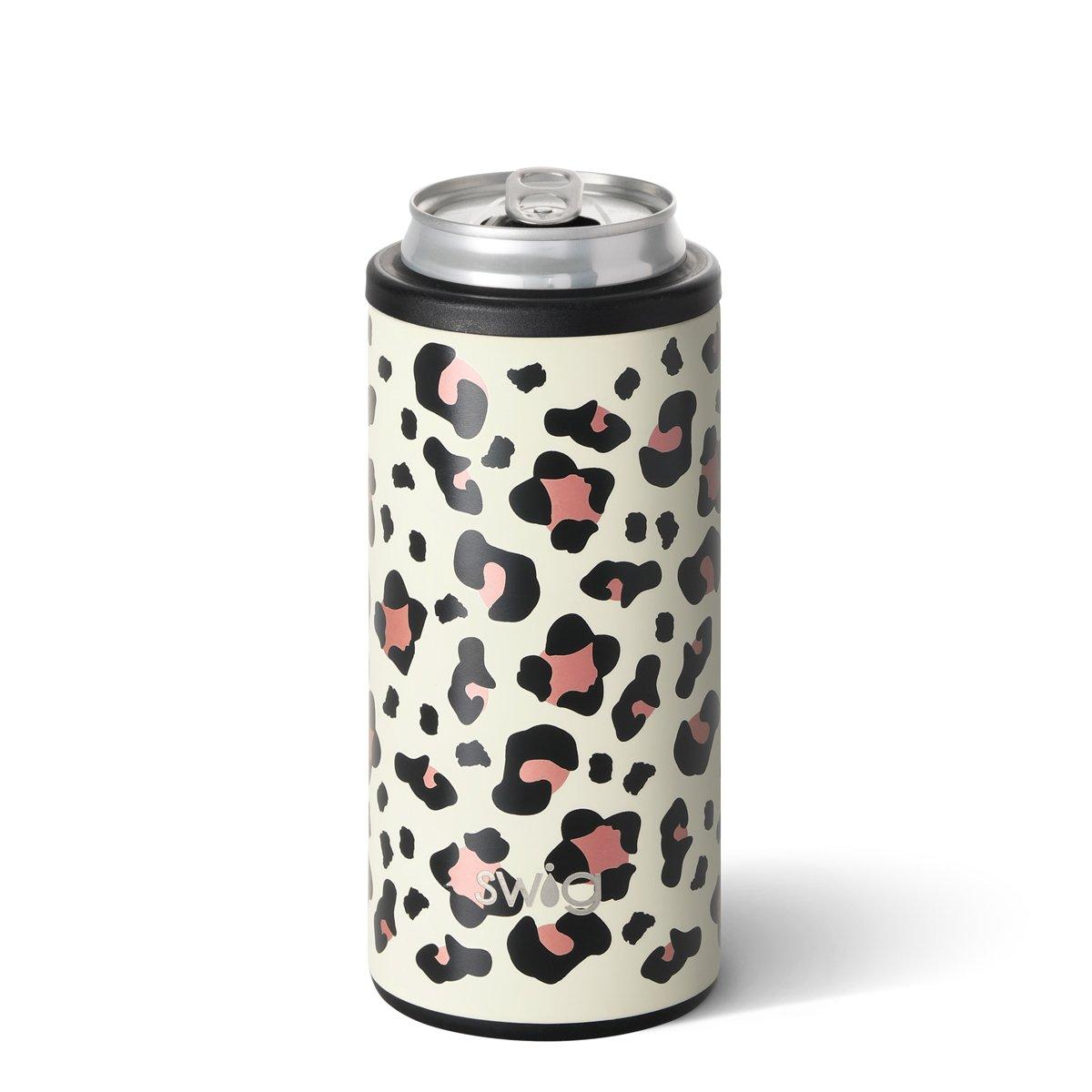 Leopard Swig Skinny Can Cooler