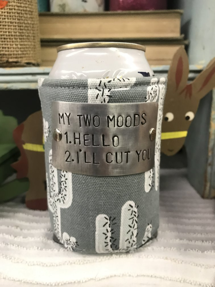 Design Your Own Grey Cactus Koozie