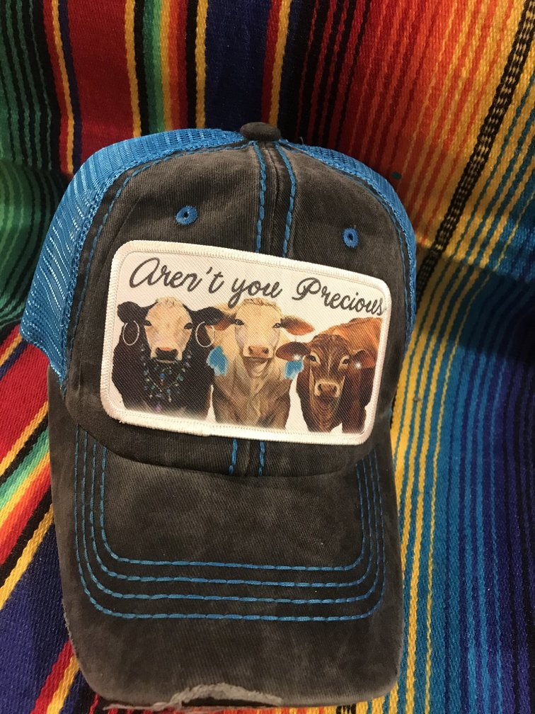 Create Your Own Black/Blue Low Profile Trucker Hat