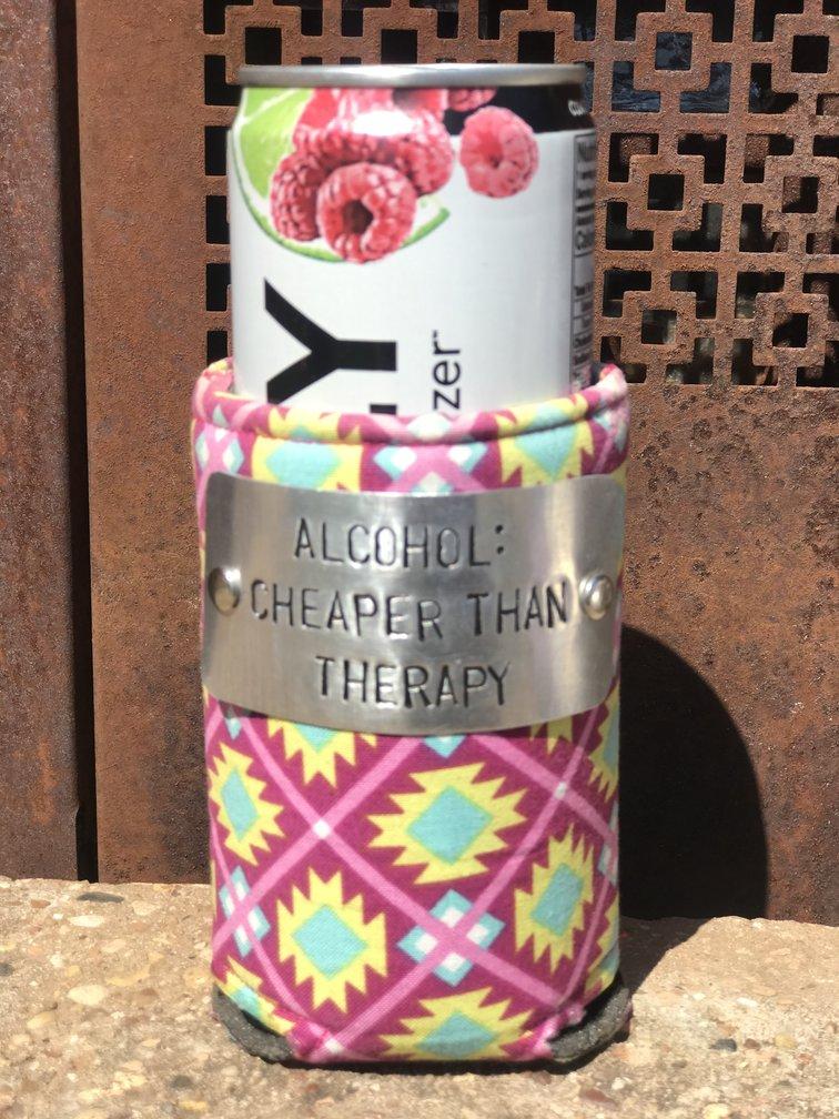 Design Your Own Pink Aztec Koozie