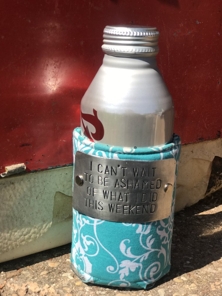 Design Your Own Turquoise White Koozie